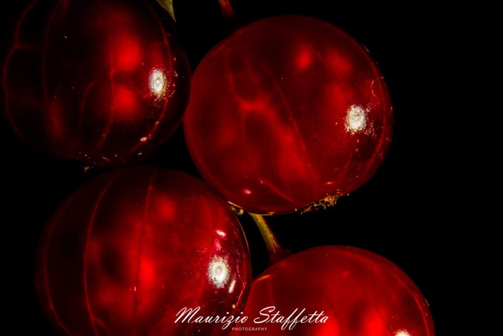 Macro. Red currants