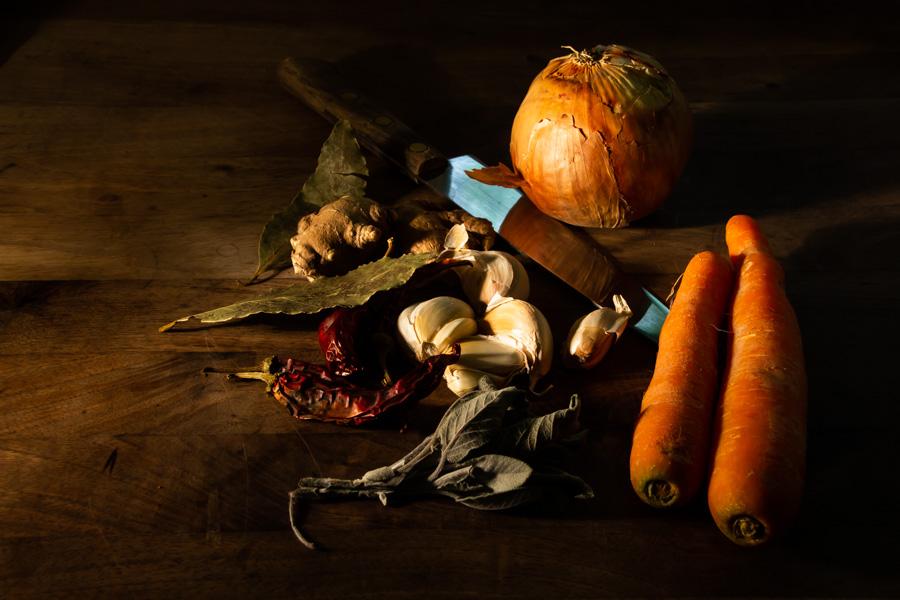 Verdure sul tavolo